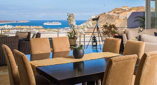 Furnished, move-in ready view condo in Cabo San Lucas, Pedregal, For Sale