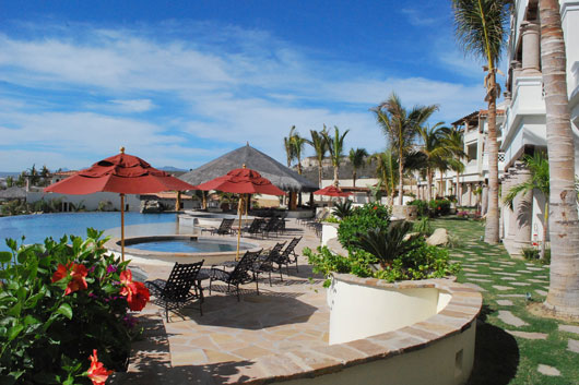 Pool area at El Encanto Condos in San Jose del Cabo