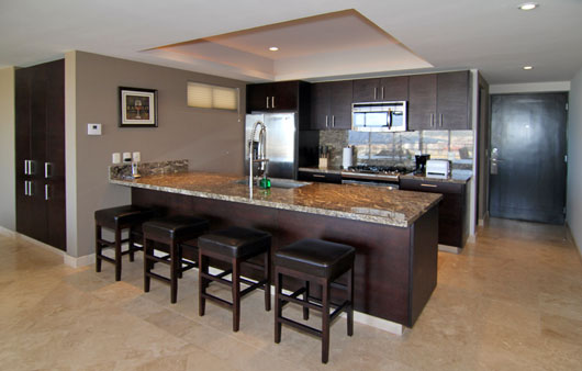 Pedregal cabo san lucas condos for sale cascadas de pedregal for Condo kitchen images
