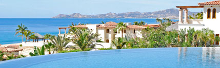 Infinity pool and view to Land's End from El Encanto in San Jose del Cabo